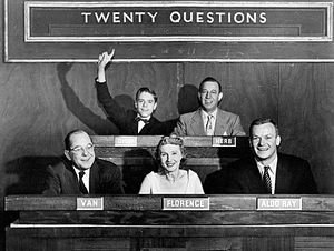Publicity photo from the game show Twenty Ques...