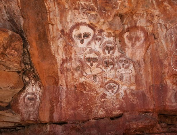Aboriginal rock art on the Barnett River, Mount Elizabeth Station