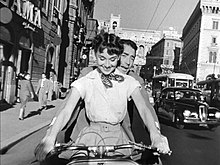 Audrey Hepburn, Gregory Peck, Roman Holiday, Vespa