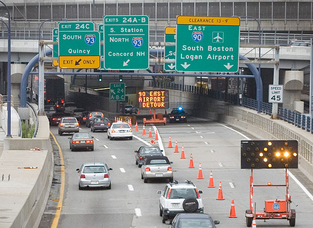 FileBoston traffic rerouted Ted Williams tunnel 2006
