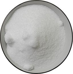 Bowl of white sugar without background