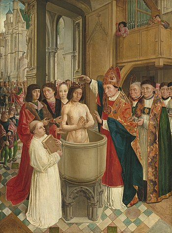 The baptism of Clovis Français : Le baptême de...