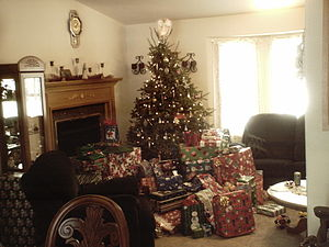 Christmas Tree with Lots of Presents Picture 2...