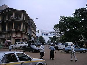 A street scene in Conakry