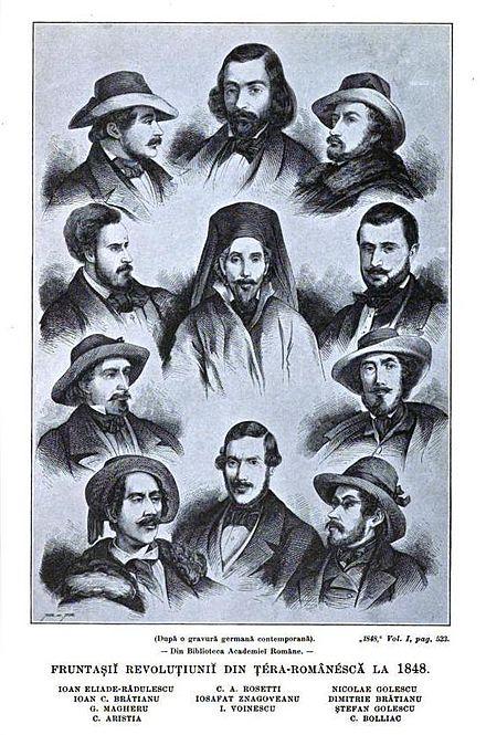 Fruntasii Revolutiei din Tara Romaneasca la 1848