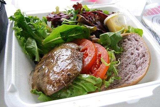 Grilled portabella mushroom burger (2)
