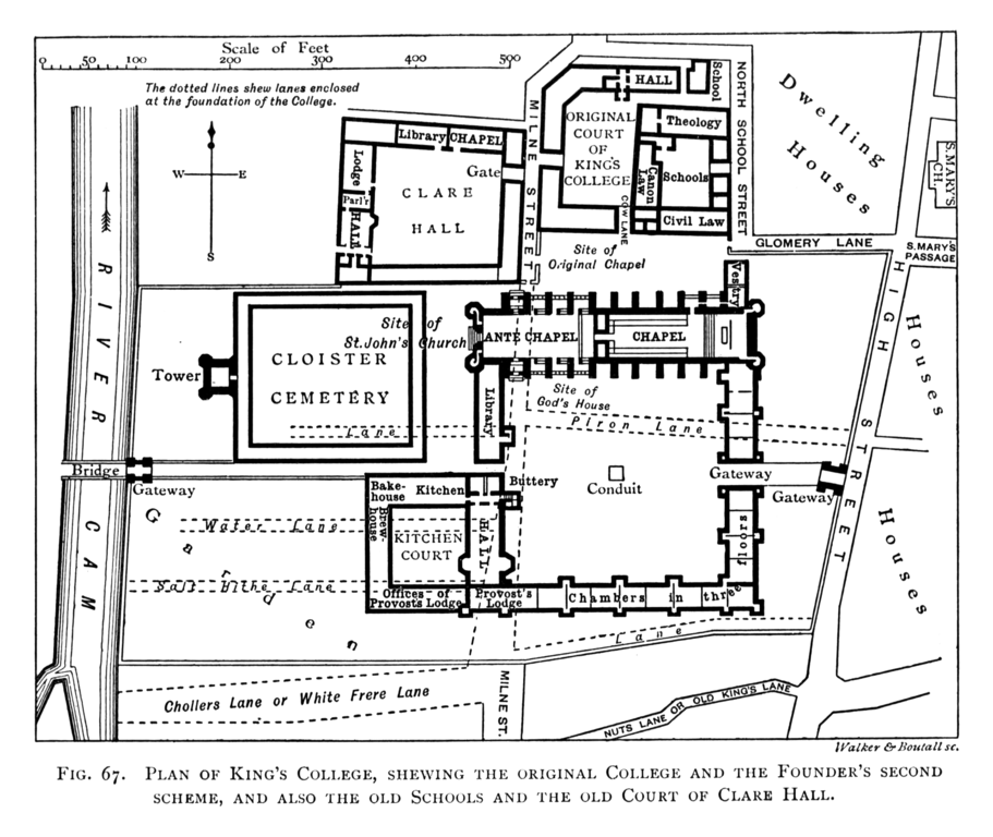 File:Historical plan of King's College, Cambridge