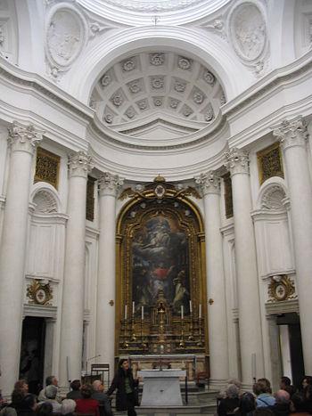 Interior of San Carlo alle Quattro Fontane, Ro...