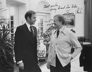 English: Senator and future Vice President Joe...