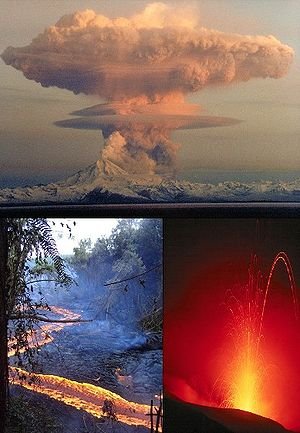 lava fountain, lava flow, Eruption column