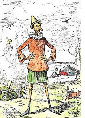 Pinocchio by Enrico Mazzanti (1852-1910) - the...
