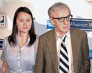 Soon-Yi Previn and Woody Allen at the 2009 Tri...