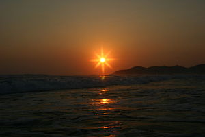 Sunset over The Pacific Ocean, at Acapulco
