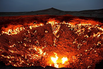 English: The Door to Hell (in the nighttime) /...
