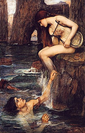 The Siren, by John William Waterhouse (circa 1...