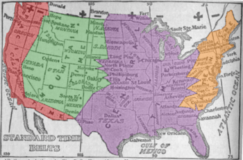 Time in states and federal districts in usa (51 states and federal districts listed below, 13 states and federal districts have multiple time zones) alabama *. Time In The United States Wikipedia