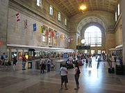 "Union Station's Ticket Lobby, also informally known as the ""Great Hall""."