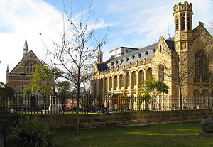 English: Bonython Hall & the Conservatorium of...