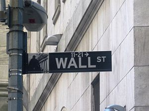 Wall Street sign on Wall Street