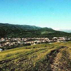 Вид на верхнюю часть села Чегем