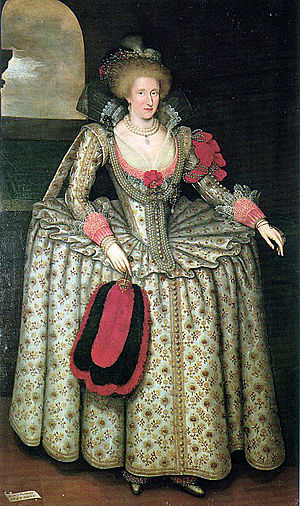 English: Anne of Denmark, Queen of England, Ma...