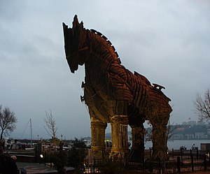This is the Trojan horse which appeared in the...