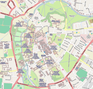 Cambridge centre map