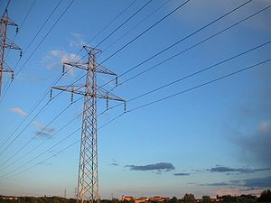 High-voltage lines for the long distance trans...