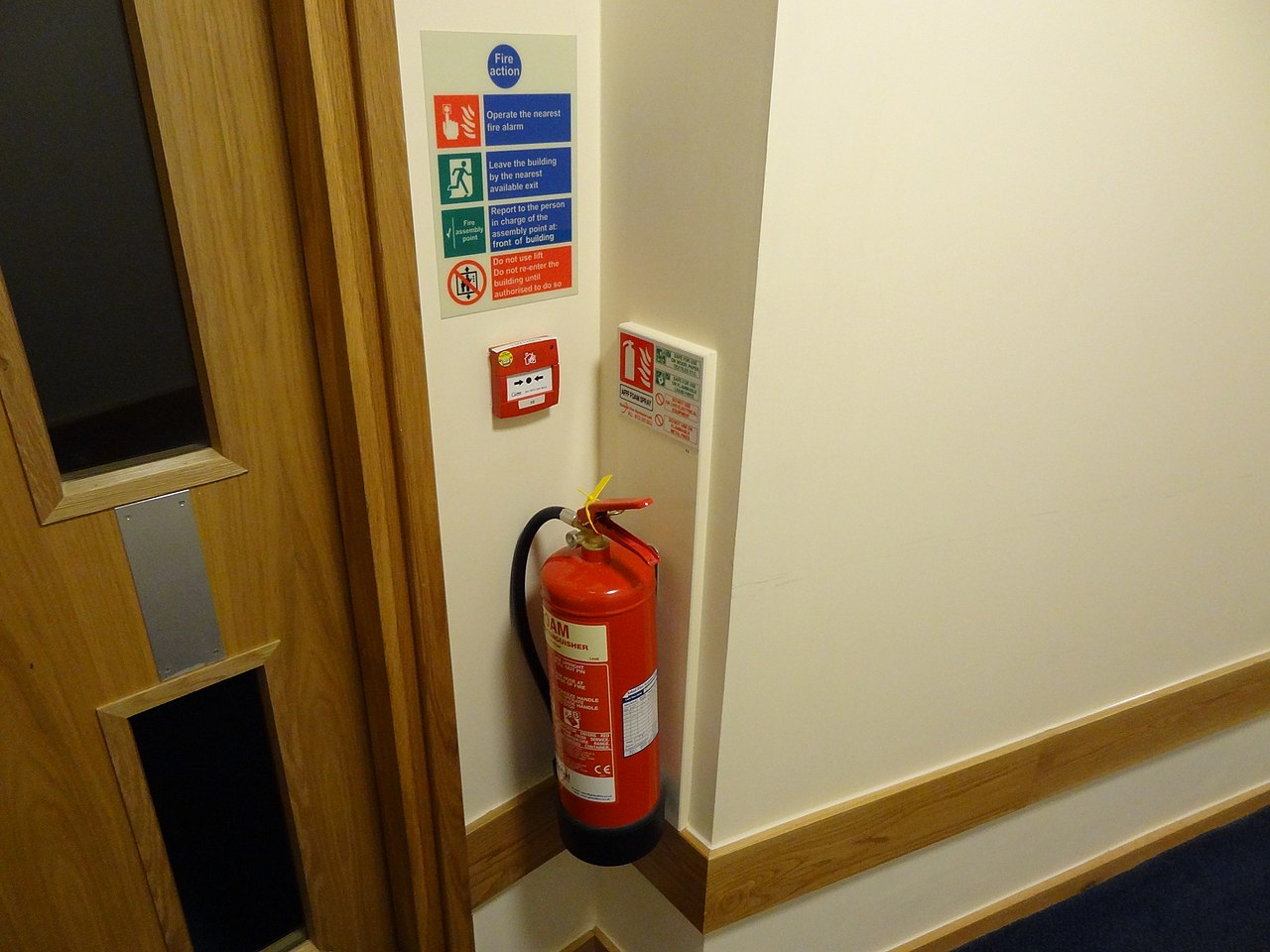 FileFire extinguisher with ID sign call point and fire