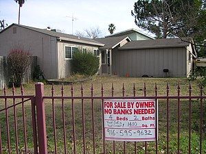 English: Sale by owner previous to foreclosure.