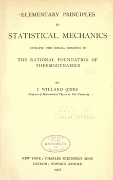 Elementary Principles In Statistical Mechanics Wikipedia