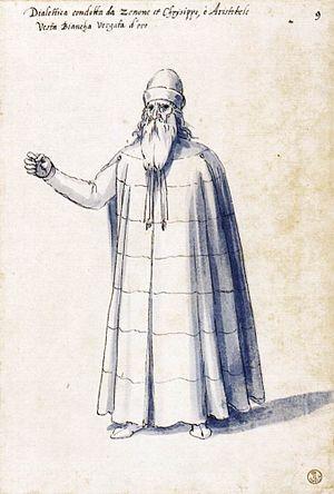 "Costume of the allegorical figure ""Dialec..."