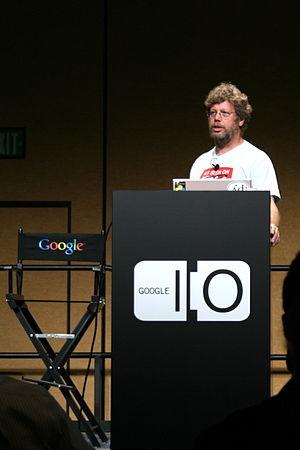 Python's chief designer Guido van Rossum at th...
