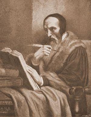 John Calvin Deutsch: Maße: 41 x 29,5 cm, Johan...