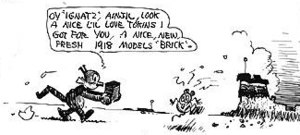 Panel from the Krazy Kat cartoon of Sunday, Ja...