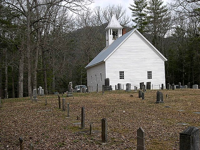 Fall Desktop Mountain Wallpaper File Primitive Baptist Church Cemetery Cades Cove Great