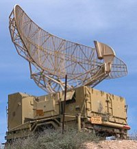 Israeli military radar is typical of the type of radar used for air traffic control. The antenna rotates at a steady rate, sweeping the local airspace with a narrow vertical fan-shaped beam, to detect aircraft at all altitudes.
