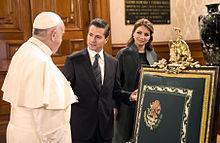 Pope Francis in the Mexican Palacio Nacional