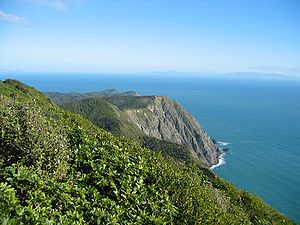 Looking southwest towards Cook Strait and the ...