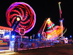 A travelling funfair has many attractions, inc...