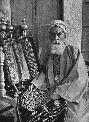 Nablus: The High Priest of the Samaritans c. 1920