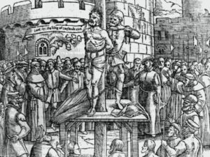William Tyndale, just before being burned at t...