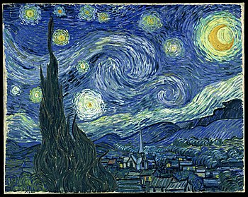 Vincent van Gogh, The Starry Night. Oil on can...