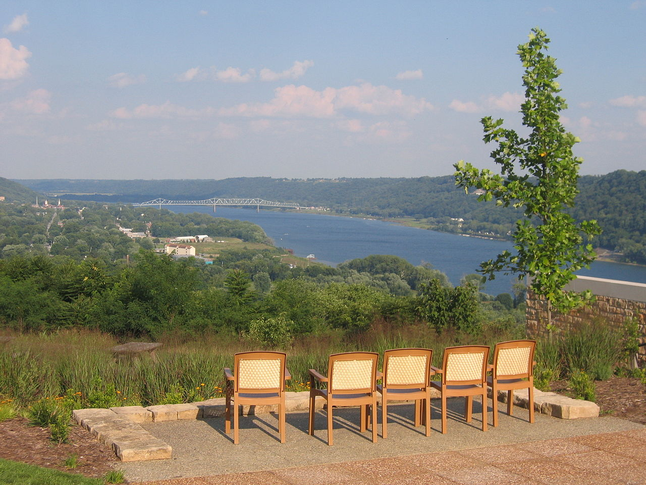 File View Of The Ohio River From Clifty Inn Madison