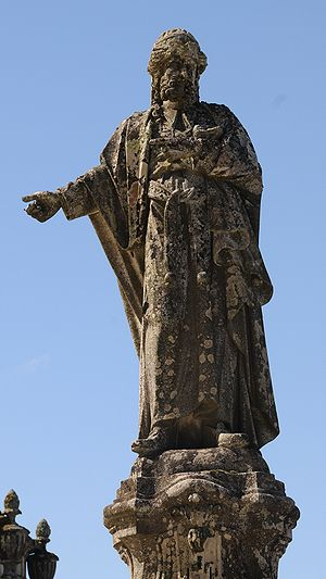 Statue of Annaz in Bom Jesus, Braga, Portugal