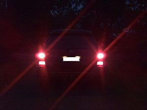 English: Brake lights of my car, Volkswagen Go...