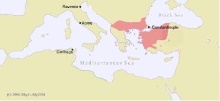 Η αυτοκρατορία της Νίκαιας το 1254, έτος θανάτου του Ιωάννη Γ'.