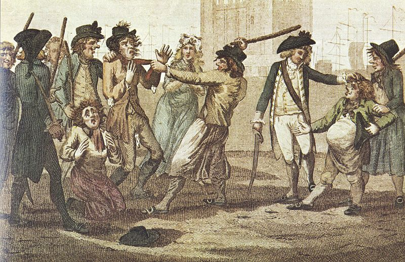 1780 press gang caricature