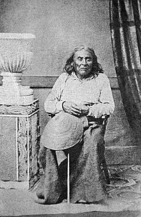 The only known photograph of Chief Seattle, taken in the 1860s