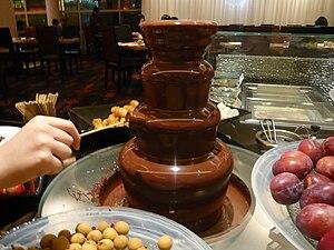 English: A chocolate fountain in Hong Kong